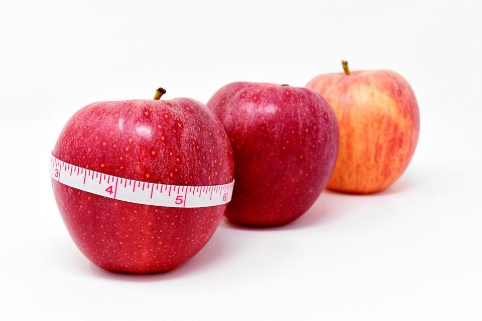 Lebensmittel zum Abnehmen und Markieren