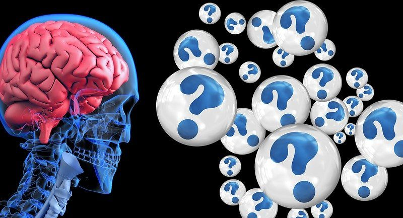 Gehirn welches eine Demenz wiederspiegelt